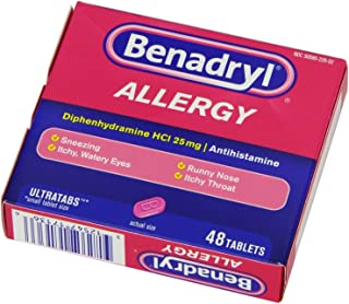 Benadryl Allergy Relief Ultratab Tablets, 48-Count  (Pack of 3)