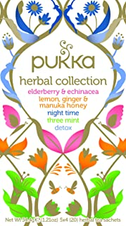 Pukka Herbs Herbal Collection Mixed Tea Bags, 20 Pieces (P5042)