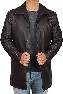 Distressed Leather Jacket Men - Genuine Lambskin Leather Coats for Men