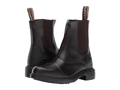 Old West English Kids Boots Gripper (Little Kid/Big Kid) (Chestnut Brown) Kids Shoes