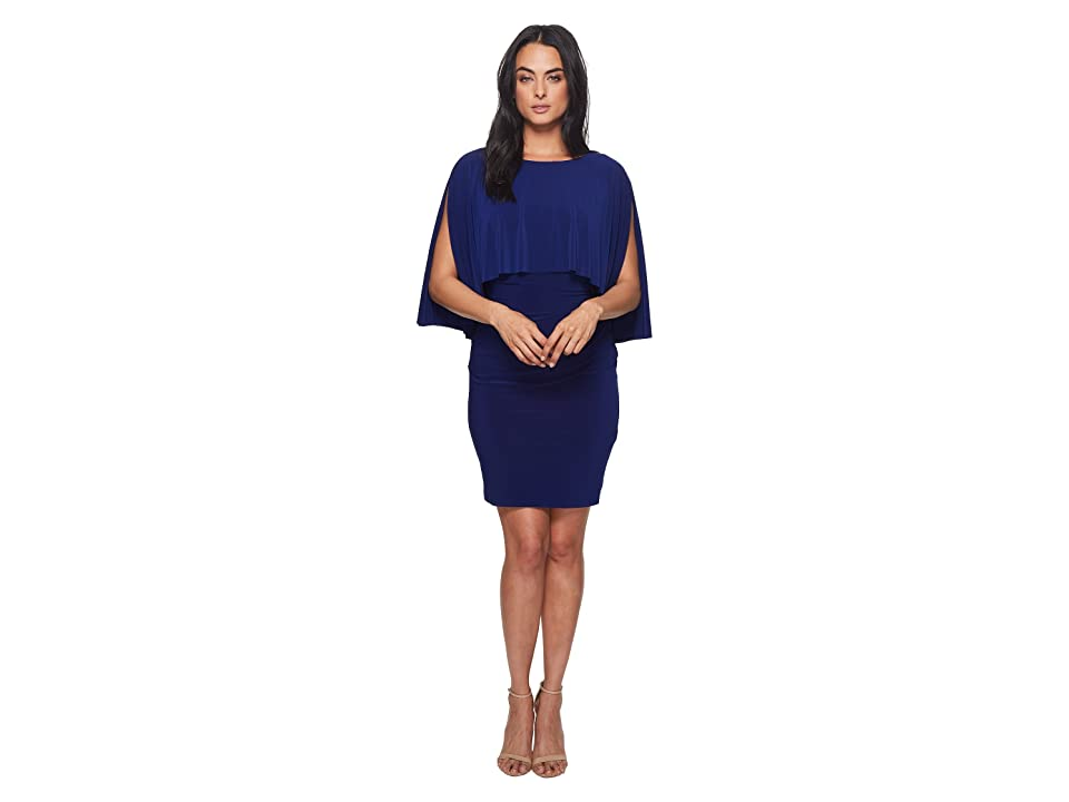 LAUREN Ralph Lauren Abriella Matte Jersey Dress (Rich Sapphire) Women