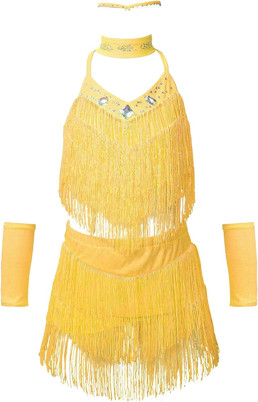 Jowowha Little Big Girls Sparkling Dress Tass unisex Discount mail order Dance Latin Halter