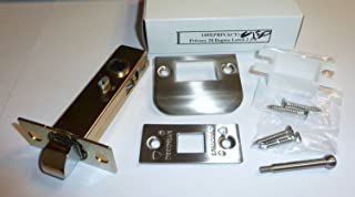Privacy Latch Set with Full Lip Strike, Deadbolt Strike, Lock Push Pin, 4 Screws, Dust Box, 28 Degree, BS 2-3/8