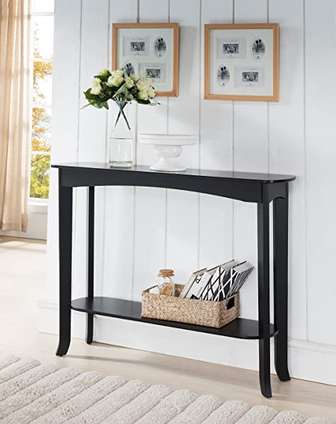 Kings Brand Furniture Wood Entryway Console Sofa Occasional Table Espresso