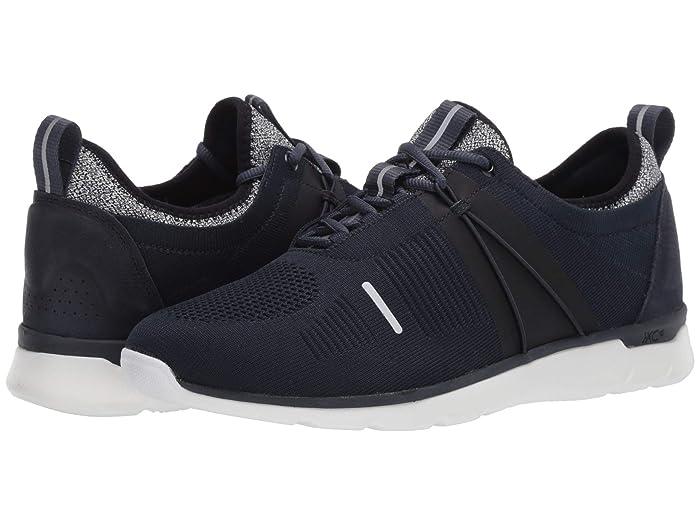Johnston and Murphy  Waterproof XC4 Prentiss U-Throat Elastic (Navy Knit) Mens Shoes