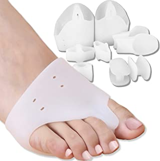 DR JK Bunion Relief and Ball of Foot Cushion Kit, Toe Separators, Metatarsal Pad for Women and Men