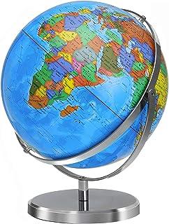 World Globe 12 در گلوبهای بزرگ برای بزرگسالان 720 درجه چرخش Globe of World با استیل سنگین در بیش از 4000 مکان جغرافیای آموزشی فعلی هدایای گلوب تزئین