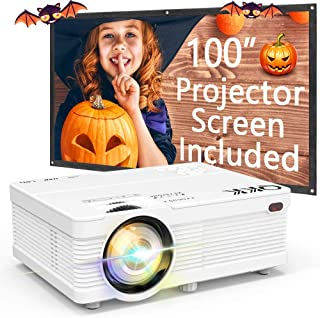 QKK Portable LCD Projector 3500 Brightness [100