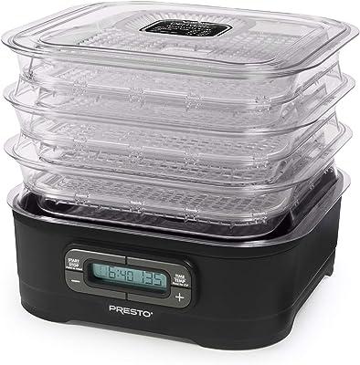National Presto Dehydro - Deshidratador eléctrico digital para alimentos, hasta 12 bandejas, color negro