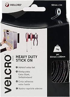 VELCRO Brand VEL-EC60241 Heavy Duty Stick On Tape 50 mm x 1 m, Black