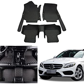Fully Tailored 4 Piece Car Mat Set with 4 Clips 2014 W205 Mercedes C Class