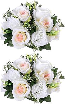 Ramo de flores falsas, núcleo rosa