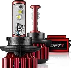 OPT7 Cool White 6K H13 (9008) Fluxbeam Choice LED Headlight Kit w/Clear Arc-Beam Bulbs-H13 130w 10,000Lm CREE