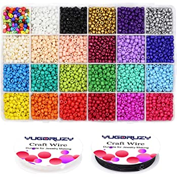 50g glass seed beads craft size 8//0 approx 3mm Light Pink-Lined Rainbow