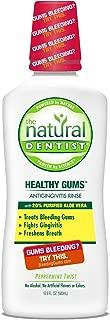 The Natural Dentist Moisturizing Healthy Gums Antigingivitis Rinse, Peppermint Twist 16.90 oz (Pack of 3)