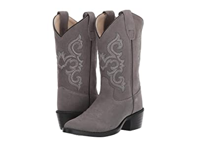 Old West Kids Boots Grace (Toddler/Little Kid) (Charcoal Suede) Cowboy Boots