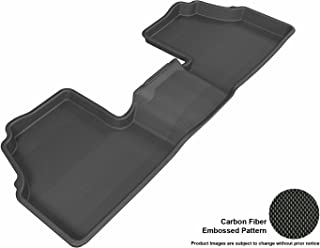 3D MAXpider Second Row Custom Fit All-Weather Floor Mat for Select Buick Encore/Chevrolet Trax Models - Kagu Rubber (Black)