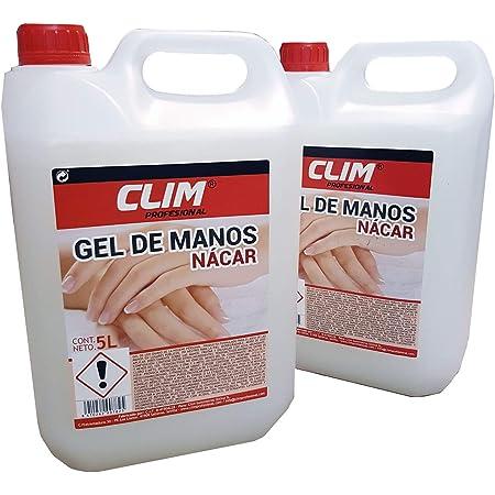 Climprofesional. Jabón de manos dermo con aroma neutro y aspecto nácar. Caja de 2 garrafas de 5 litros