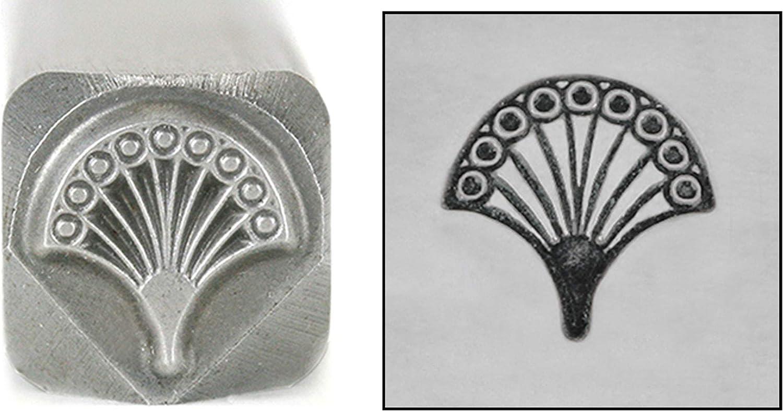 Art Deco Fan Denver Mall Metal Design Pattern Soldering Mandala Punch Stamp 7mm