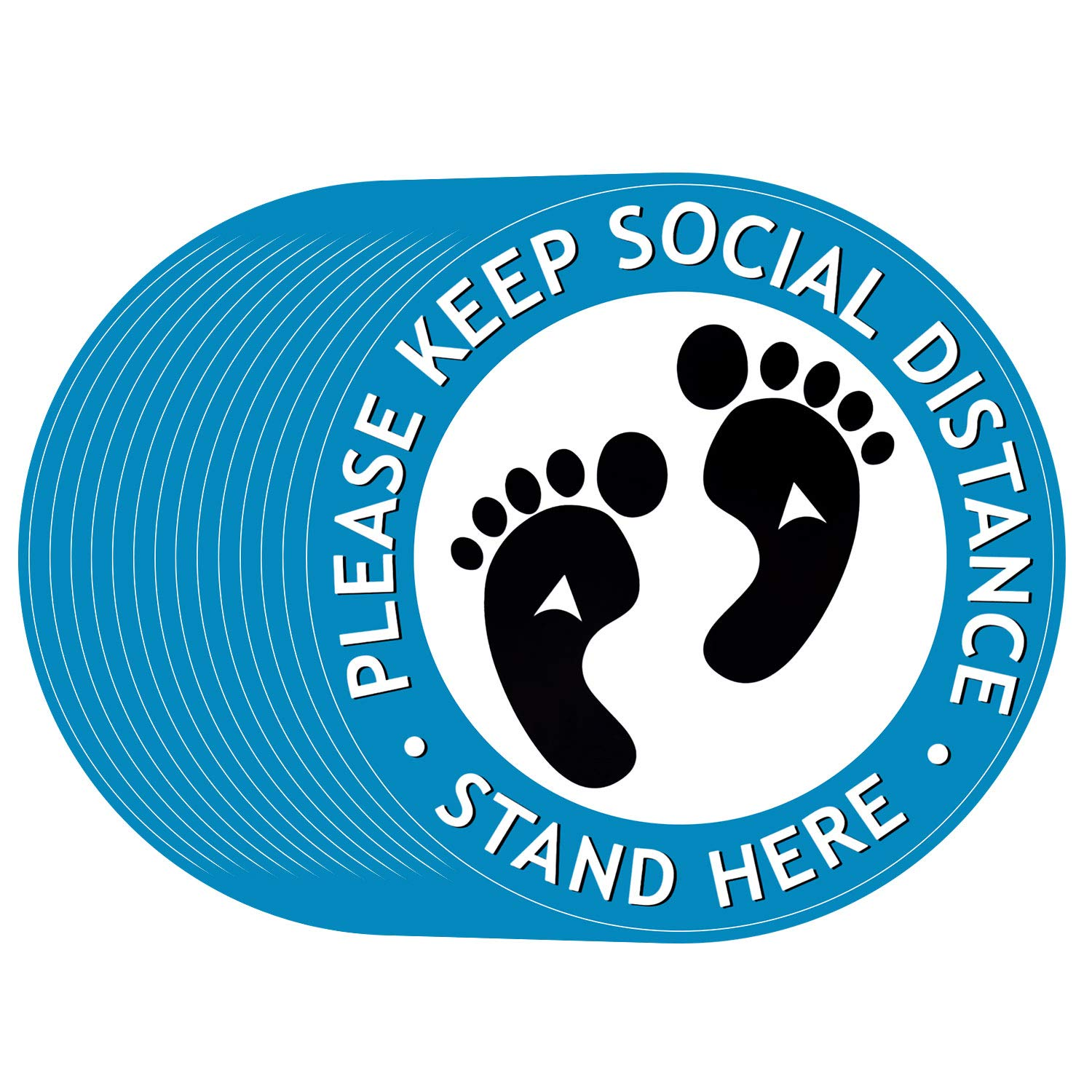 Social Distancing Floor Ranking TOP10 Decals Selling rankings Safety Marke Sign Stickers