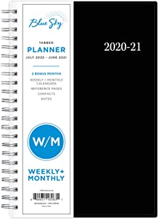 "Blue Sky 2020-2021 Academic Year Weekly & Monthly Planner, Flexible Cover, Twin-Wire Binding, 5"" x 8"", Enterprise"