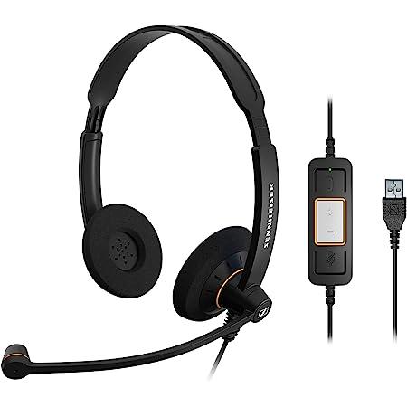 ゼンハイザー SC 60 USB ML エントリークラス 両耳USBヘッドセット、コールコントロール機能付 504547