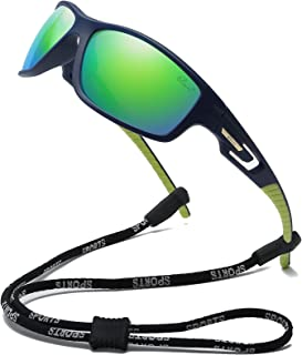 Polarized Sports Sunglasses Unisex TR90 Frame for Cycling Running Driving Fishing Golf Baseball Glasses
