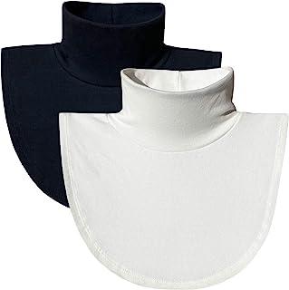 ZESLMG Women Turtleneck Dickies,Detachable Mock Turtlenecks, Cotton Fake Collar Half Blouse