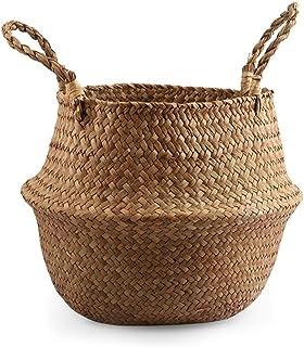 Boîte de Rangement Rotin, Bac de Rangement, Osier panier panier ferme ferme maison décoration panier panier à la main pail...