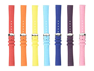 Michele 16 mm Carousel Silicone Strap Gift Set (Multi) Watches