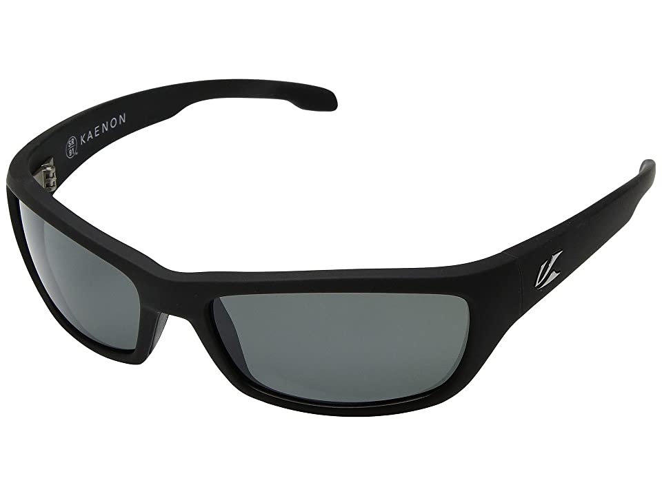 5c826920b86b Kaenon Cowell (Black Matte Grip Ultra Grey 12-Polarized) Sport Sunglasses
