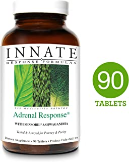 INNATE Response Formulas - Adrenal Response California Blend, Supports a Healthy Stress Response with Ashwagandha, Holy Basil, and Rhodiola, 90 Tablets