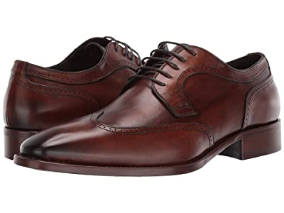 J&M Collection Cormac Wing Tip (Mahogany) Men