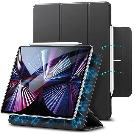 ESR iPad Pro 11 ケース 2021 第3世代 iPad Pro 11 カバー 2020 第2世代 通用 磁気吸着 Apple Pencilのペアリングと充電に対応 オートスリープ ウェイク スリム 軽量 シルク手触り 高級感 三つ折りスタンド マグネティックスマートケース ブラック