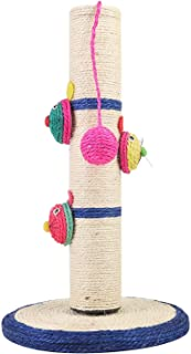 Mumoo Bear Natural Sisal Cat Scratching Post Tree Tower with Ball Scratcher Toy