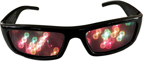 high quality Alternative Imagination Smiley Face 3D Diffraction Glasses - Perfect for high quality Raves, Music Festivals, new arrival and More online