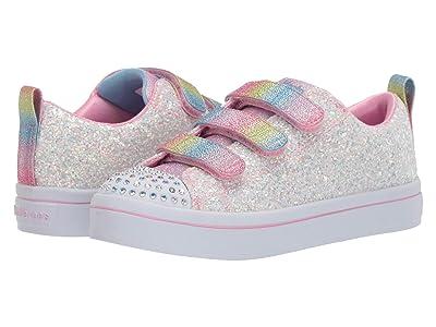 SKECHERS KIDS Twinkle Toes Twi-Lites 314048L (Little Kid) (White/Multi) Girl