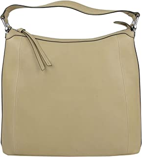 Gucci Bamboo Beige Soft Leather Zip Top Handbag with Detail 355774 9909