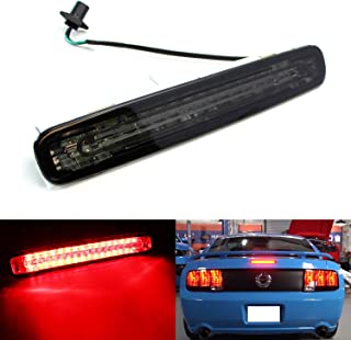 iJDMTOY Smoked Lens LED 3rd Brake Light For 2005-2009 Ford Mustang, Powered by 16 Super Bright Red LED Emitters