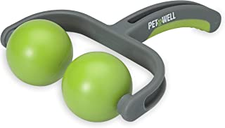 PetWell Back & Neck Reliever Handheld Massage Roller for All Size Pets (Dogs, Cats)