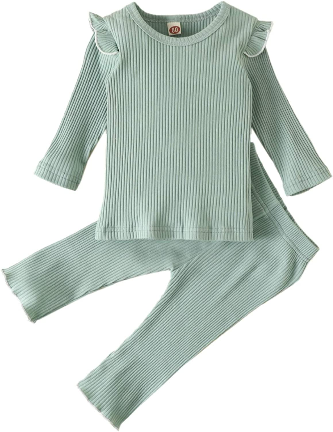 Ranking TOP5 Toddler Baby Girl Fall Winter Outfit Knitted Solid Long Clothes 5 ☆ very popular
