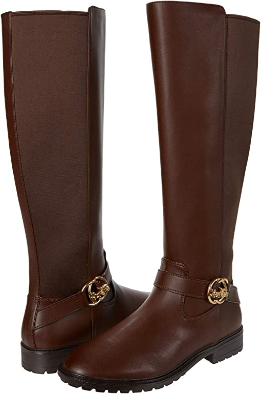 COACH Farrah Leather Boot,Walnut