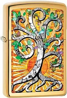 Zippo Custom Lighter: Fusion Tree of Life - High Polish Brass 78816