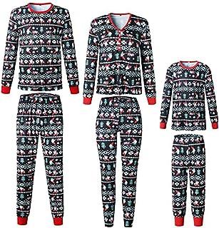 Pijama de Navidad familiar para bebé, ropa de noche para Navidad, para mujer, hombre, niños, largo