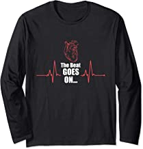 The Beat Goes On Heartbeat Heart Attack Surgery Survivor Long Sleeve T-Shirt