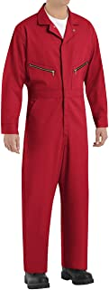 Red Kap Men's Zip-Front Cotton Coverall, Red, 48