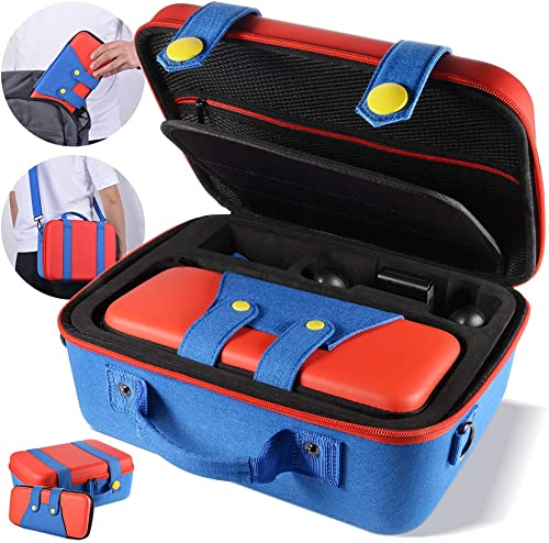 Carrying Storage Case Compatible with Nintendo Switch System,Cute and Deluxe,Protective Hard Shell Carry Bag for Nint...