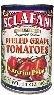 Gus Sclafani Fine Italian Imports Peeled Grape Tomatoes 14 oz Can (6 Pack)