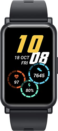 Honor Watch ES Black 4 16cm 1 64 AMOLED Touch Display 95 Workout Modes Automatic Workout Recognition 12 Animated Workout Courses Fast Charge SpO2 Stress Sleep Monitor Watch Face Store