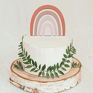 Wooden Boho Rainbow Cake Topper Neutral Cake Topper Bohemian Wedding Cake Topper Birthday Cake Topper Rainbow Baby Shower ...